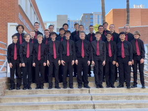Group photo of the Young Men's Ensemble